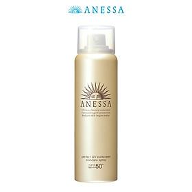 Bộ đôi Kem chống nắng dưỡng trắng dạng gel Anessa Whitening UV Sunscreen Gel 90g + Kem chống nắng dưỡng da dạng xịt bảo vệ hoàn hảo Anessa Perfect UV Sunscreen Skincare Spray 60g