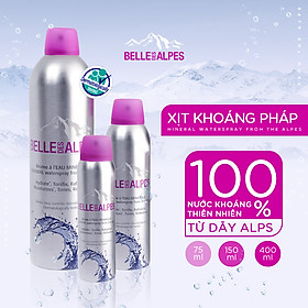 XỊT KHOÁNG PHÁP BELL DES ALPES MINERAL WATERSPRAY FROM THE ALPES