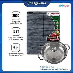 Bếp Từ cảm ứng Nagakawa NAG0708 (2000W) - Kèm Nồi Lẩu - Hàng Chính Hãng
