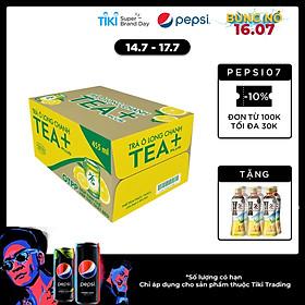 Thùng 24 Chai Trà Oolong Vị Chanh Tea+ (24 x 455ml)
