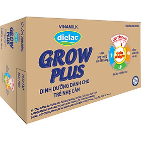 Thùng 48 Hộp Sữa Bột Pha Sẵn Vinamilk Dielac Grow Plus - Xanh 180ml