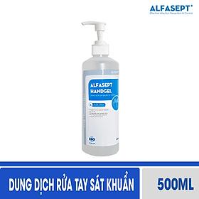 Gel rửa tay khô sát khuẩn Alfasept Handgel - Lô Hội 500ml tăng cường phòng bệnh