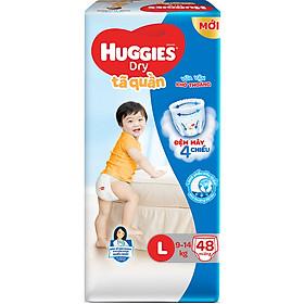 Tã Quần Huggies Dry Gói Đại L48 (48 Miếng) - Bao Bì Mới