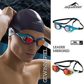 """Kính bơi chuyên nghiệp nhập khẩu từ Đức Aquafeel dòng """"Leader Mirrored"""" siêu nhẹ (32g), đạt tiêu chuẩn chất lượng Châu Âu, thiết kế dành cho thi đấu đỉnh cao, phù hợp cho người lớn, trẻ em nhiều độ tuổi Free Size"""