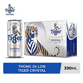 Thùng 24 lon Tiger Crystal lon cao mới (330ml/lon)