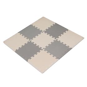 Bộ 09 Tấm Thảm Xốp Ghép Màu Pastel, Chất Liệu EVA Dùng Lót Sàn Cho Bé, Lót Sàn Phòng Bếp, Phòng Khách - Kích Thước 30 x 30 x 1.2 cm - Tặng kèm tấm bên - Hàng Xuất Nhật