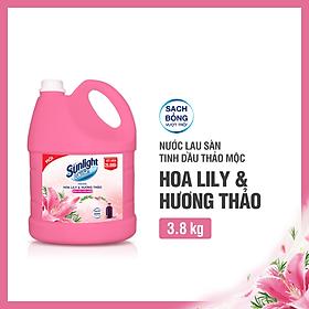 Nước Lau Sàn Sunlight Tinh Dầu Thảo Mộc Hương Hoa Lily 3.8kg