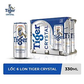 Lốc 6 Lon Tiger Crystal (330ml / Lon)