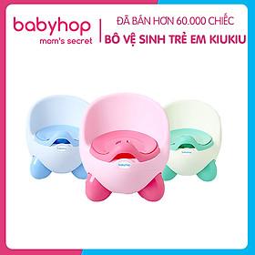 Bô vệ sinh trẻ em Kiu Kiu Babyhop cho bé từ 6 tháng đến 5 tuổi chống trơn trượt có chỗ dựa và khay