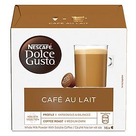 Hộp 16 Viên Nén Cà Phê Sữa Nescafe Dolce Gusto - Café AuLait 144g