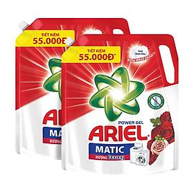 Combo 2 Túi Nước Giặt Ariel Matic Hương Downy (2.15Kg/ Túi)