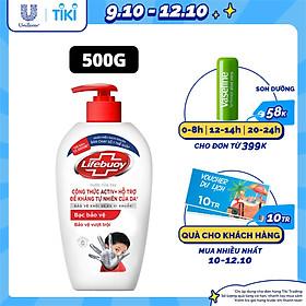 Nước Rửa Tay Lifebuoy 500g Bạc Bảo Vệ Giúp Bảo Vệ Khỏi 99.9% Vi Khuẩn Tốt Nhất Dành Cho Tay