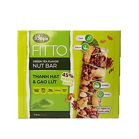 Bánh Ăn Sáng Ngũ Cốc Gạo Lứt Và Các Loại Hạt Điều Đậu Phộng Mè – FITTO Green Tea Bar 210gr (Hộp 6 thanh hạt)