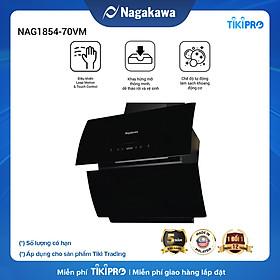 Máy hút mùi kính cao cấp kính vát Leap Motion Nagakawa NAG1854-70VM( 70cm) - sản xuất tại Malaysia - Hàng chính hãng