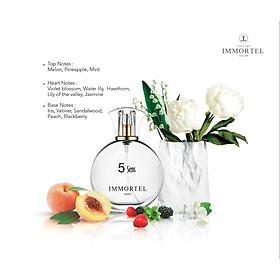 Nước hoa nữ IMMORTEL PARIS 5Sens Eau De Parfum Dung tích 60ml -Với Mùi hương kỳ diệu và trong mát , nổi bật