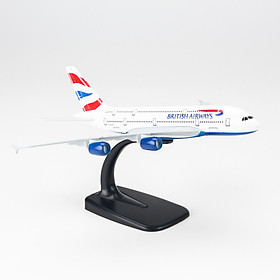 Mô Hình Máy Bay Trưng Bày Airbus A380 British Airways Everfly (20cm)