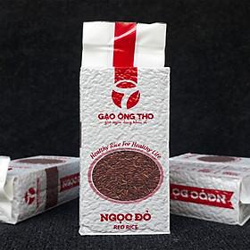 Gạo Lứt Đỏ Túi 1Kg - Gạo Ngọc Đỏ Ông Thọ - Gạo lứt tốt cho sức khỏe, ăn kiêng, tiều đường, giảm cân, cao huyết áp