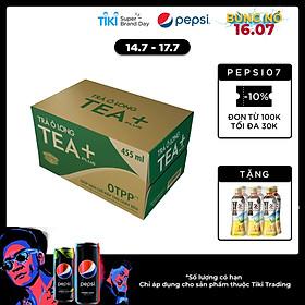 Thùng 24 Chai Trà Ô Long Tea+ Plus (455ml / Chai)