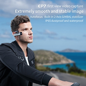 ORDRO EP7 Head Wearable 4K 60fps Video Camera First Person View Hands-Free Camcorder APP Control Autofocus Built-in
