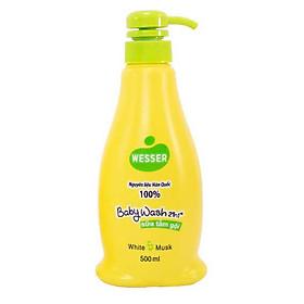 Sữa Tắm Gội Wesser 2in1 Hương Cỏ Xạ Hương (500ml) - Xanh Lá