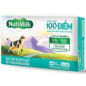 Biểu đồ lịch sử biến động giá bán Thùng 48 Hộp NutiMilk Sữa Tươi 100 Điểm - Sữa Tươi Nguyên Chất Tiệt Trùng Không Đường Hộp 110ml