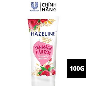 Sữa rửa mặt Hazeline Dưỡng ẩm sáng da Yến Mạch & Dâu Tằm chiết xuất từ thiên nhiên dịu nhẹ cho da 100g