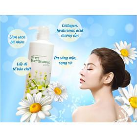 Sữa Tắm Trắng Da Dưỡng Ẩm Nhật Bản Manis White Body Shampoo 450ml, Tẩy Tế Bào Da Chết, Làm Sáng Da Và Ngăn Ngừa Lão Hóa
