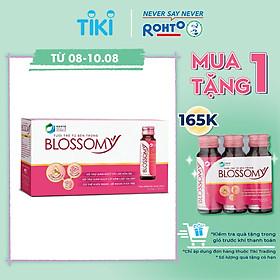Thực Phẩm Bảo Vệ Sức Khỏe Giúp Da Sáng Đẹp Và Dạ Dày Khỏe Blossomy Hộp 10 chai x 50ml