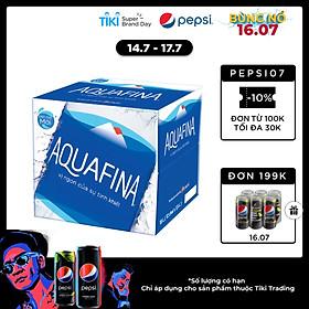 Thùng 12 Chai Nước khoáng thiên nhiên Aquafina 1.5L