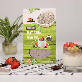 Hạt Chia Trắng hữu cơ Smile Nuts hộp 500g - Hạt chia nhập khẩu từ Nam Mỹ (hạt sáng, nở đều, không tạp chất) - White Chia Seed Organic 500g