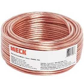 Dây Cáp Loa Âm Thanh Cuộn 1.3mm² MECK (10m): 16-Gauge AWG Speaker Wire Cable