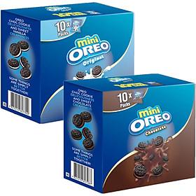 Combo 2 Hộp bánh Oreo Mini Chocolate & Vani 204gr