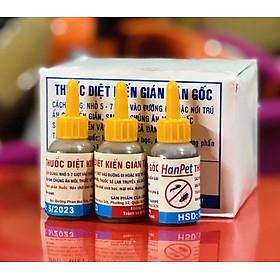 Combo 3 lọ Thuốc diệt kiến gián sinh học Hanpet- Dung dịch diệt kiến tận gốc