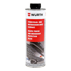 Sơn phủ gầm Wurth Gravel Throw and Underbody Protection 0892075200 1000ml (đen)