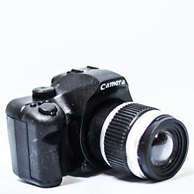 Móc khóa máy chụp hình có đèn nhạc - Đen