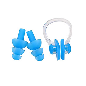 Silicone Swimming Earplugs Nose Clip Sets Waterproof Ear & Nose Protector Block Water Soft & Comfortable For Children