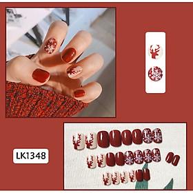 Bộ 24 móng tay giả nail thơi trang (như hình-LK1348)