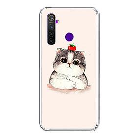 Ốp lưng điện thoại Realme 5 Pro - Silicon dẻo - 0489 CAT05 - Hàng Chính Hãng