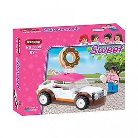 Đồ chơi lắp ghép - Chính hãng Hàn Quốc - Xe Bánh Donut Oxford HS3399 -  gồm 84 mảnh ghép dành cho bé 8 tuổi trở lên