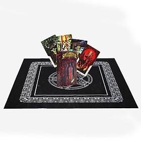 Combo Bộ Bài Bói Tarot Santa Muerte Tarot Cao Cấp và Khăn Trải Bàn Tarot Cao Cấp