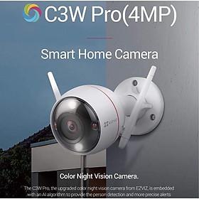 Camera IP Wifi ngoài trời EZVIZ C3W 4MP ( độ phân giải 2K ) - ban đêm có màu - đàm thoại 2 chiều - Có đèn và còi báo động - hổ trợ thẻ nhớ lên đến 256G - hàng nhập khẩu