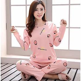Đồ bộ mặc nhà, bộ đồ thun quần dài áo tay dài in hình C033