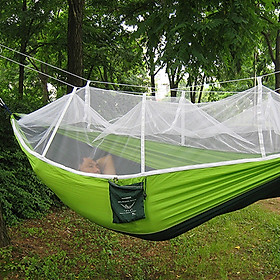 Portable Single-person Mosquito Net Hammock Hanging Bed for Travel Cam