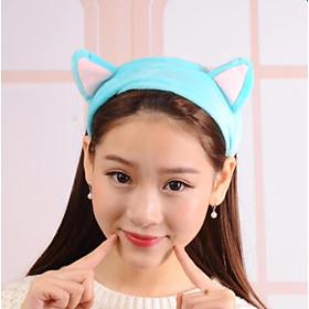 Băng Đô Rửa Mặt ,Tắm Hình Tai Mèo Cute