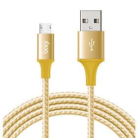 Cáp Dù Sạc Nhanh Chống Đứt Dài 2m Cho SAMSUNG,XIAOMI,OPPO,VIVO...Cổng Micro USB - Bagi MS200 - Hàng Chính Hãng