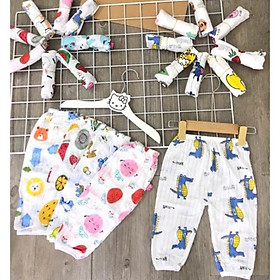 Combo 5 quần dài cotton giấy LOẠI 1 cho bé trai/ bé gái siêu xinh