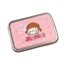 Hộp Thiếc  20 tấm Sticker Momoi  ( trang trí sổ kế hoạch, nhật ký)