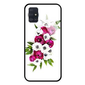 Ốp lưng Kính Cường Lực cho Samsung Galaxy A51 - 0001 FLOWER09 - Hàng Chính Hãng