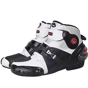 Men Soft Motorcycle Boots Biker Waterproof Speed Motocross Boots Non-slip Motorcycle Shoes Shoe US