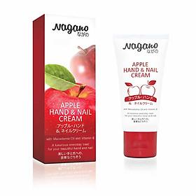 Kem Dưỡng Da Tay Và Móng Hương Táo Nagano Japan 60ml - Apple Hand & Nail Cream Nagano - Chiết xuất từ hạt Mấc Ca giúp dưỡng da tay trắng min, giúp móng chắc khỏe